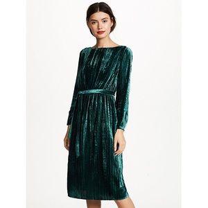 NWT BB Dakota Green Velvet Dress XS
